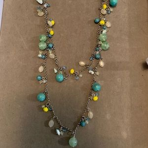 Lia Sophia Necklace Beach House Multi Colored Bead